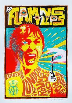 Flaming Lips London Posters by Adam Pobiak