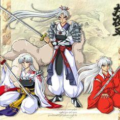 Sesshomaru, his father, and Inuyasha