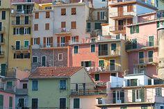 De kleurige huisjes van Manarola