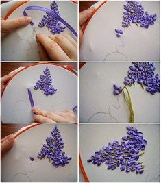 Wonderful Ribbon Embroidery Flowers by Hand Ideas. Enchanting Ribbon Embroidery Flowers by Hand Ideas. Learn Embroidery, Hand Embroidery Stitches, Hand Embroidery Designs, Embroidery Kits, Embroidery Tattoo, Eyebrow Embroidery, Embroidery Blanks, Brother Embroidery, Embroidery Supplies