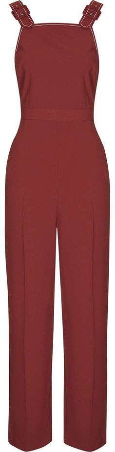 Womens carmine pini topstitch jumpsuit from Topshop - £59 at ClothingByColour.com