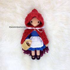 Ravelry: Jane Doll Little Red Riding Hood pattern by Kelly DeSandro