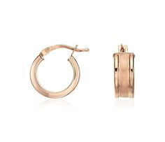 Satin Hoop Earrings in Rose Gold Vermeil | #Accessories #Jewelry #Fashion