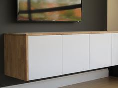 diy hanging 10 foot credenza using ikea wall units wood 300 full step by step tutorial. Black Bedroom Furniture Sets. Home Design Ideas