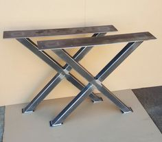 X - Table Legs, Heavy  duty,  Sturdy X - Metal Legs, Industrial Legs, Dining Table  Leg Set
