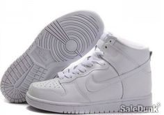 Nike Dunk High Tops All White For Women Discount Price/Fast Shipping