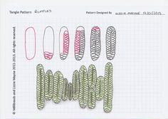 Tangle Pattern by Lizzie Mayne. Zentangle Drawings, Doodles Zentangles, Doodle Drawings, Doodle Designs, Doodle Patterns, Zentangle Patterns, Tangle Doodle, Zen Doodle, Doodle Art