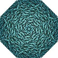 Green Metallic Background, Hook Handle Umbrellas (Small) by Costasonlineshop