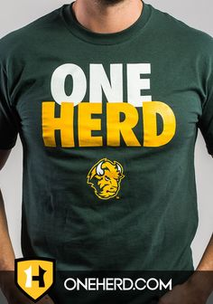 bcc94dc9485ab One Herd Signature Men s Green Tee  NDSU Ndsu Bison
