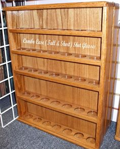 I would like josh to build this for my collectable glasses with a glass front instead of shot glasses. Combo Shot Glass Display Cases FREE SHIPPING by Grateful50 on Etsy, $65.00