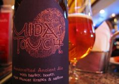 Midas Touch brewed by Dogfish Head Craft Brewery - Midas Touch's base style is braggot (a mead made with malt). From there, Dogfish adds Muscat grapes and saffron, alongside other herbs and spices, culminating in a taste experience like few others.