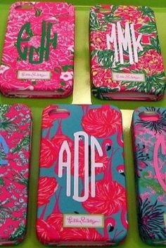 lilly monogrammed phone case