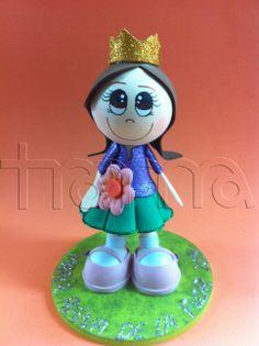 Fofucha reina de la flor. #fofucha #foamy #manualidades #handmade #diy #valencia #trama #benimaclet #artesania