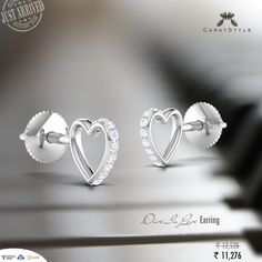 Do right by #jewellery with this lovely heart-shaped #studs.  #earrings…