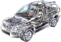 2002-2007 Toyota Land Cruiser Prado 5-door (J120W) - Illustrator's name illegible