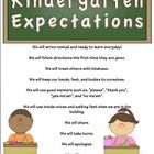 Kindergarten expectations that can be read as a whole during the first week or throughout the school year. Kindergarten Curriculum Map, Curriculum Mapping, Pencil Labels, Cursive, Classroom Management, To My Daughter, Student, Education