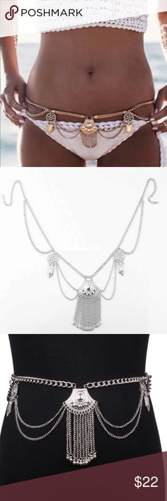LAST ONE Silver Bohemian Sexy Body Chain Silver Bohemian Sexy Body Chain. Can wear with your bikini  or favorite summer outfit. Jewelry