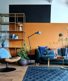 Ready for color Denim Drift Indian Spice Flexa living room metamorphosis paint surfaces Living Room Wall Designs, Ikea Living Room, Eclectic Design, Interior Design, Indian Home Design, Sheila E, Minimalist Home Interior, Minimalist Living, Indian Living Rooms