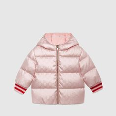 GG Reversible Hooded Puffer Coat, Size Months by Gucci at Neiman Marcus Girly Girl Outfits, Cute Outfits For Kids, Toddler Nike Outfits, Baby Girl Fashion, Kids Fashion, Gucci Baby, Gucci Kids, Designer Baby Clothes, Cute Baby Clothes