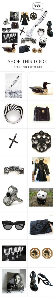 """Straight to the Top of My Wish List!"" by seasidecollectibles ❤ liked on Polyvore featuring Nicole Miller, Le Specs, St. John, Franco Sarto, vintage and etsyevolution"