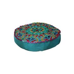 NOVICA Cotton Ottoman Cover in Teal Green with Embroidery ($43) ❤ liked on Polyvore featuring home, furniture, ottomans, decor, ottoman, green, homedecor, ottoman covers, novica and teal ottoman
