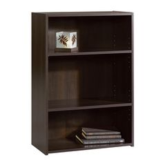 Sauder Beginnings Cinnamon Cherry 35.25-in 4-shelf Bookcase 409086