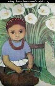 Child with Calla Lillies - Diego Rivera - www.diego-rivera-foundation.org