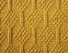 Moss Stitch Diamonds - Stitch Sample Chart as well as instructions.... *p*