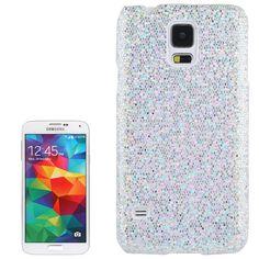 Glitter Glitzer Backcover Case fürs Samsung Galaxy S5 i9600 Silber