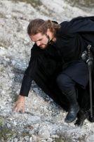 "Black Medieval Cotton Cloak ""Watcher"""