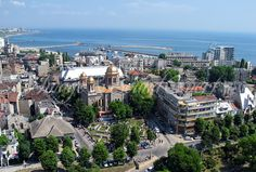 aerial photos Archdiocese of Tomis, Archdiocese of Saint Peter and Paul Constanta Romania, Paris Skyline, City, Travel, Photos, Viajes, Pictures, Cities, Destinations