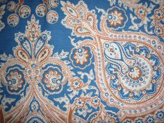 Vintage Paisley Fitted Twin Sheet by bizarrebaubles on Etsy, $12.50