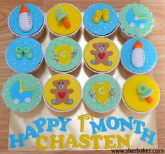 Life is too short, Eat Desserts: Baby 1st Month Cupcakes