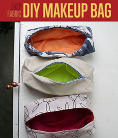 How To Sew A DIY Makeup Bag -Tutorial and How-To | Easy Sewing Patterns | Cool Sewing Projects and Craft Ideas http://diyready.com/how-to-sew-cute-makeup-bags-sewing-patterns/