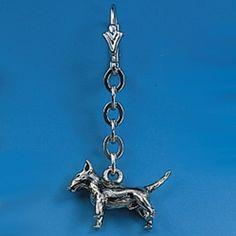 Ohrhänger Bullterrier an Kette - Paar Breite des Hundes 17 mm / Höhe 12 mm Silbergewicht: 9,0