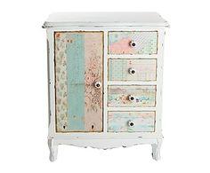 Mueble auxiliar en madera de pino y DM - multicolor