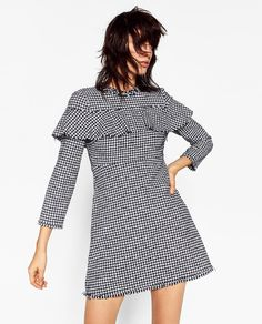 FRILLED TWEED DRESS-DRESSES-WOMAN-SALE | ZARA United States