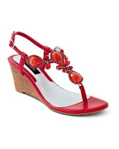 94a44c908cf57e Flame demi-wedge sandals from White House Black Market Red Sandals