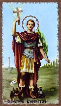 """Santos, Beatos, Veneráveis e Servos de Deus: SANTO EXPEDITO, Mártir. Conhecido como """"Santo das ..."""
