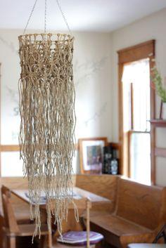 Melmaria Designs DIY Macrame Hanging Chandelier | Melmaria Designs