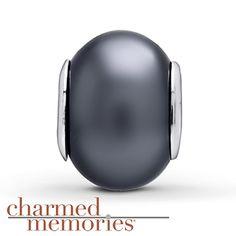 Charmed Memories® Black Resin Charm Sterling Silver