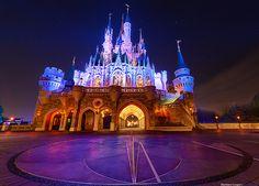 Magic Kingdom's Cinderella Castle shines at Walt Disney World. Beautiful!