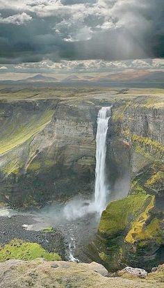 Iceland - Háifoss Waterfall