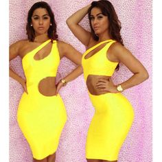 Womens Dresses Sexy One Shoulder Open Chest Semi Naked Waist  exy Lingerie Clubwear Party Dress Slim Bodycon Summer Wear  H2451Z