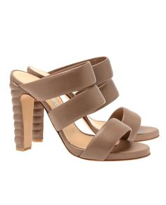 'Celine' strappy leather heels by BIONDA CASTANA