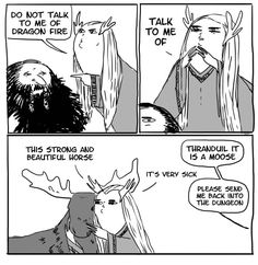 Do not talk to me of dragon fire - King Thranduil and Thorin  XP