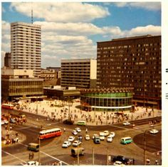 Marszałkowska / Al. Jerozolimskie, 1969 Poland Cities, Ppr, Magenta, Illusions, City Photo, Dolores Park, To Go, Travel, Life
