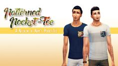 Patterned Pocket-Tee at Down in Simsland • Sims 4 Updates