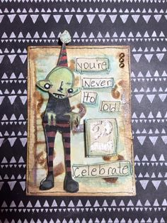 Artwork created by Sharon Paxton using rubber stamps designed by Daniel Torrente for Stampotique Originals