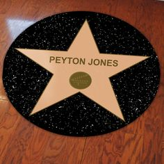 Personalized Hollywood Star Party Floor Decal